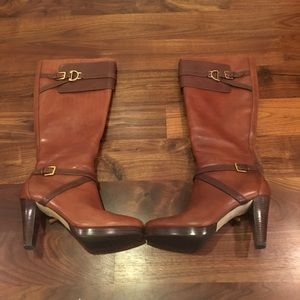 NWOT Cole Haan leather poppy bit boot
